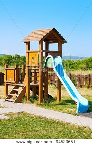 Slide For The Kids On The Playground