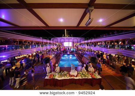 in the deck of Costa Deliziosa - the newest Costa cruise ship