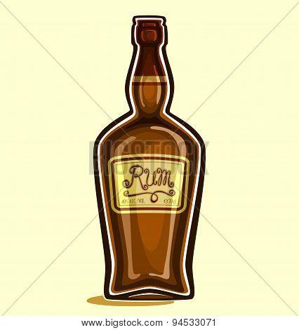 Rum in the bottle