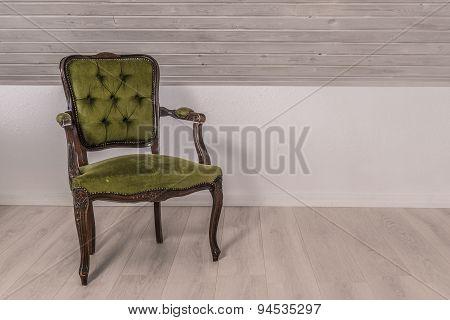 Green Chair In Victorian Design