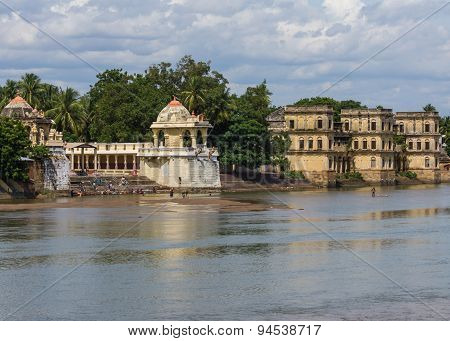 Shiva Temple And Burial Ghat.