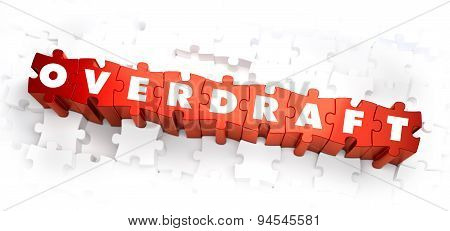 Overdraft - White Word on Red Puzzles.