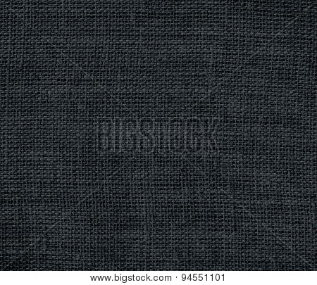 Dark gunmetal burlap texture background
