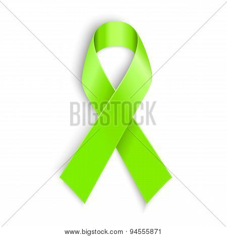 Lime Awareness Ribbon