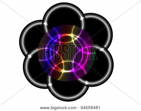 Circles with neon effect
