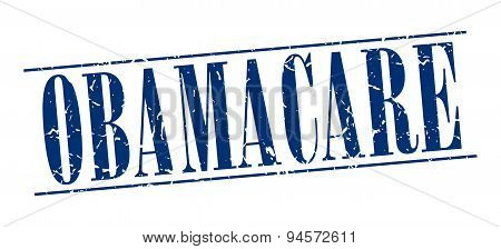 Obamacare Blue Grunge Vintage Stamp Isolated On White Background