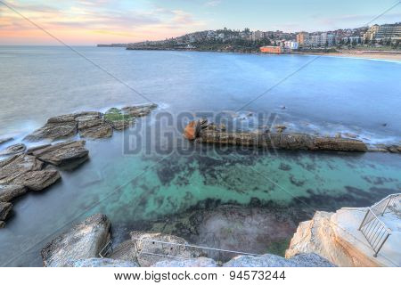High Views Over Coogee Rock Pool