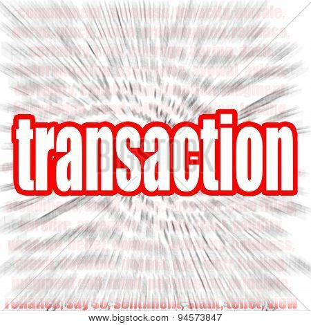 Transaction Word Cloud