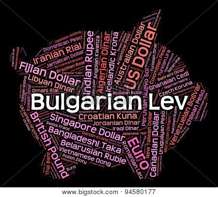 Bulgarian Lev Shows Currency Exchange And Broker