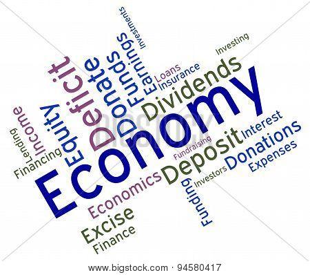 Economy Word Means Micro Economics And Economical