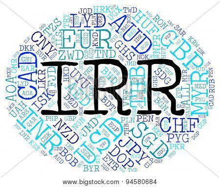 Irr Currency Means Foreign Exchange And Fx poster