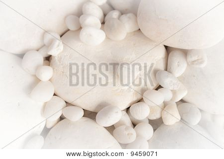 stack of white rock
