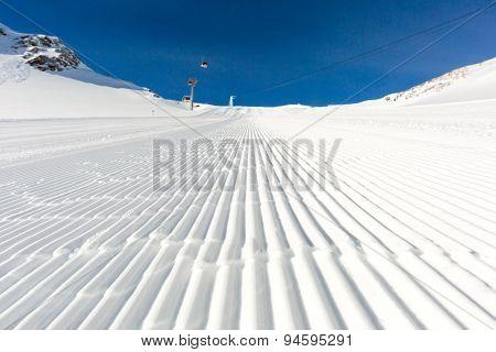 Groomed Snow