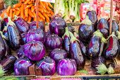 Vegetables for sale at Mercato il Capo in Palermo, Sicily. Excellent vegetables is one of the hallmarks of the Italian kitchen. poster