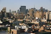 view of nyc skyline from greenwich village poster