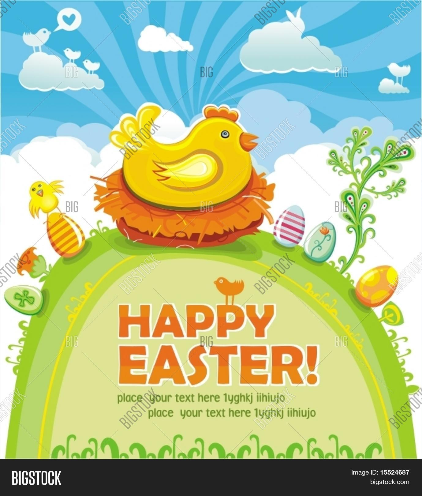 Easter Greeting Card Vector Photo Free Trial Bigstock