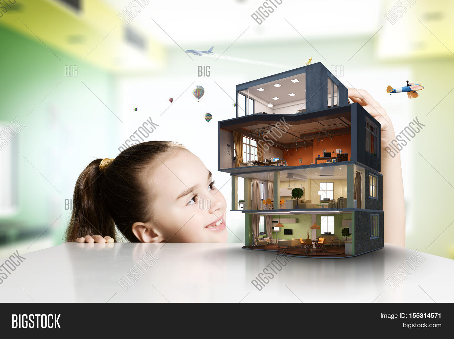 Design your dream house mixed image photo bigstock for Dream roof