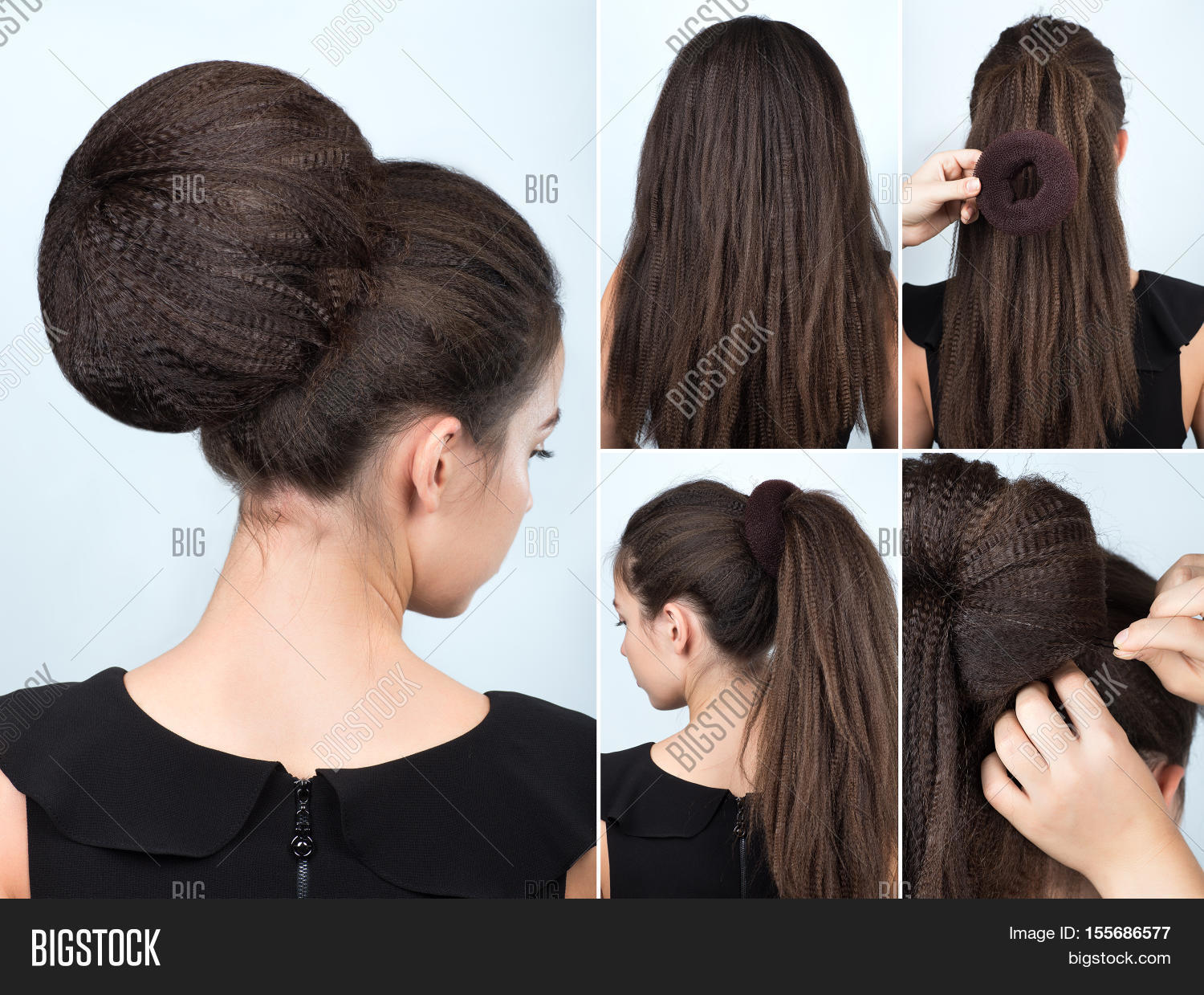 Hairstyle Tutorial Image Photo Free Trial Bigstock