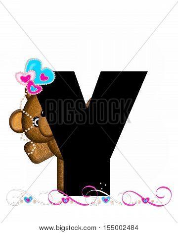 Alphabet Teddy Valentines Cutie Y