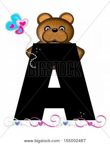 Alphabet Teddy Valentines Cutie A