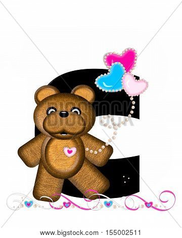Alphabet Teddy Valentines Cutie C