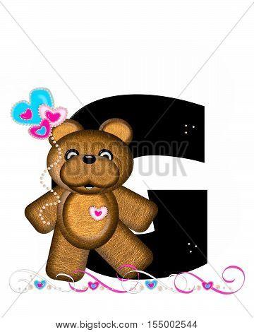 Alphabet Teddy Valentines Cutie G