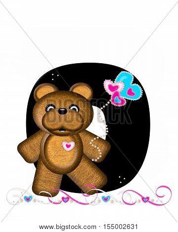 Alphabet Teddy Valentines Cutie O