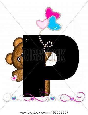 Alphabet Teddy Valentines Cutie P
