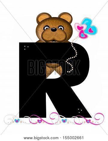 Alphabet Teddy Valentines Cutie R
