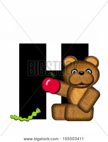 Alphabet Teddy H