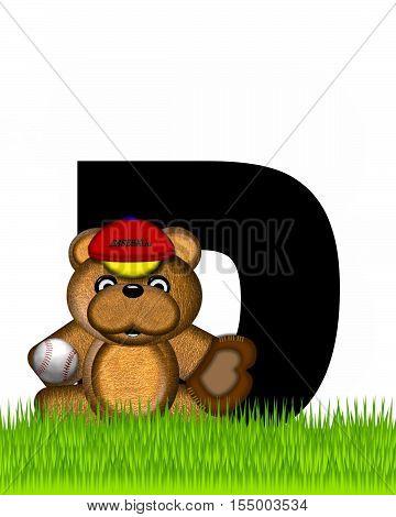 Alphabet Teddy Baseball D