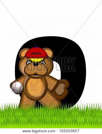 Alphabet Teddy Baseball O