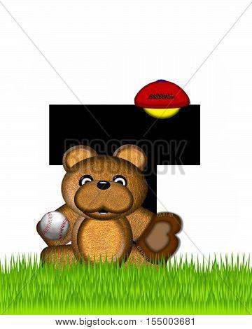 Alphabet Teddy Baseball T