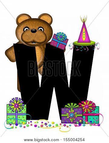 Alphabet Teddy Birthday Surprise W