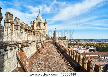 Cathedral Of Nossa Senhora Da Assuncao. Evora, Portugal.