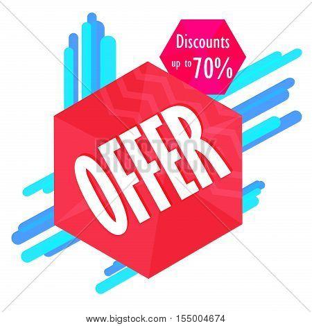 Special offer sale tag discount symbol, mega sale banner retail offer design sticker. Black friday sale banner