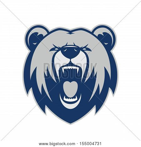 Clipart picture of a bear head cartoon mascot logo character