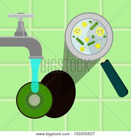 Washing Contaminated Kiwifruit