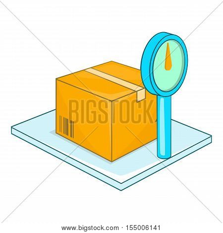 Scales for weighing goods icon. Cartoon illustration of scales vector icon for web design