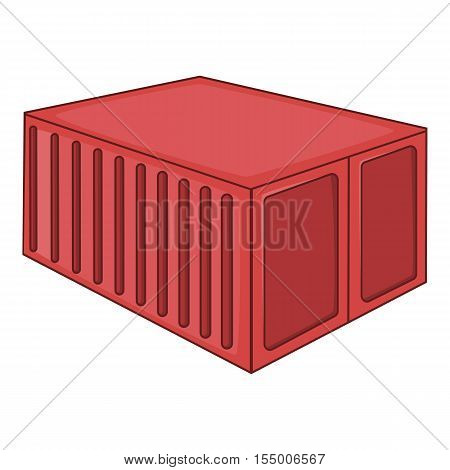 Cargo container icon. Cartoon illustration of container vector icon for web design