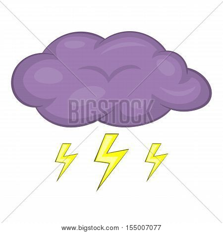 Clouds and storm icon. Cartoon illustration of clouds and storm vector icon for web design