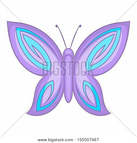 Lovely butterfly icon. Cartoon illustration of butterfly vector icon for web design