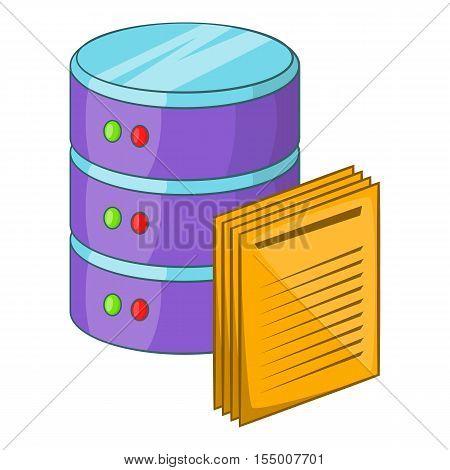 Data processing icon. Cartoon illustration of data processing vector icon for web design