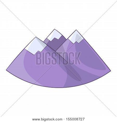 Alps mountain icon. Cartoon illustration of Alps vector icon for web design