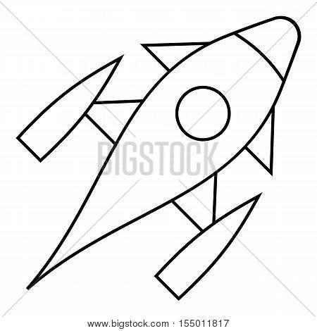 Rocket with porthole icon. Outline illustration of rocket with porthole vector icon for web