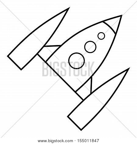 Space rocket icon. Outline illustration of space rocket vector icon for web