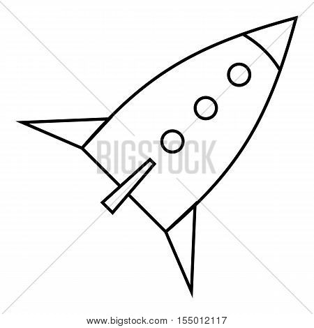 Space rocket for fly icon. Outline illustration of space rocket for fly vector icon for web