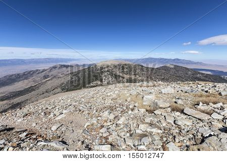 View from the Wheeler Peak trail at Great Basin National Park in Eastern Nevada.