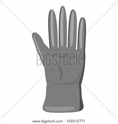 Glove icon. Gray monochrome illustration of glove vector icon for web