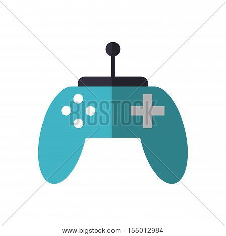 Video game control icon. Game play leisure gaming and controller theme. Isolated design. Vector illustration